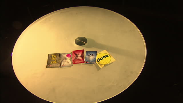 interior set up shots of legal high drugs in packaging including doob amt pink panthers sparkle e blast on august 23 2014 in manchester england - 20世紀のスタイル点の映像素材/bロール