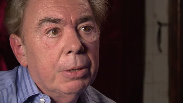 interior shot andrew lloyd webber talks about his new musical stephen ward has turned out he also talks about being exited about orchestrating music... - andrew lloyd webber stock videos & royalty-free footage