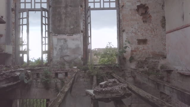 interior shot at ex hacienda mazapa - rotten com stock videos and b-roll footage