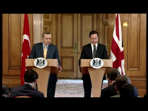 interior shot david cameron gives statement on the former libyan foreign minister musa kusa's defection to the uk david cameron comments on musa kusa... - former stock videos & royalty-free footage
