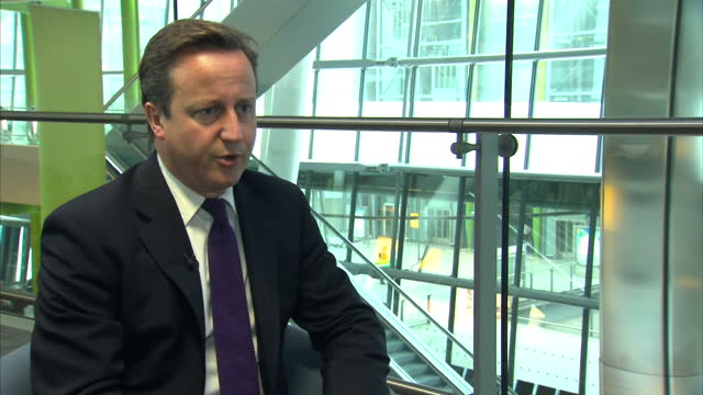 interior shot david cameron speaks about his defence secretary liam fox his position regarding the allegations abour relations with adam werrity... - liam fox politician stock videos and b-roll footage