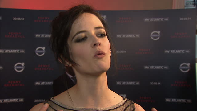Interior shot Eva Green talking about her character in TV series Penny Dreadful on May 12 2014 in London England