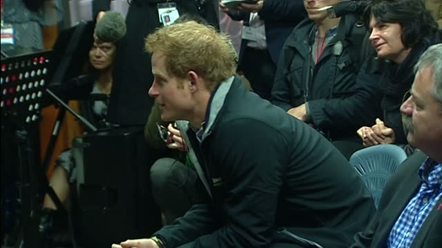 interior shot of prince harry answering child's question about what it is like being a helicopter pilot on may 11 2015 at halfmoon bay school stewart... - helicopter pilot stock videos & royalty-free footage