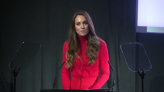 GBR: The Duchess of Cambridge launches the Addiction Awareness campaign at BAFTA in London