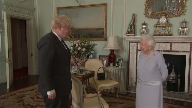GBR: The Queen meets PM Boris Johnson at Buckingham Palace for the first time since lockdown in the UK began.