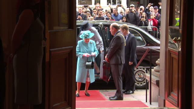 interior shot queen elizabeth ii arrives at the royal society of edinburgh meet and greet talking to people in edinburgh scotland on friday 7th july... - meet and greet stock videos and b-roll footage