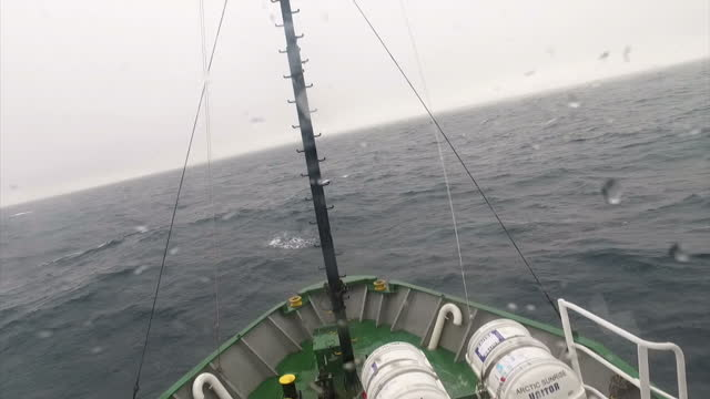 interior shots aboard the wheelhouse of the greenpeace arctic sunrise as she sails through the barants sea on july 12 2016 in longyearbyen norway - svalbard and jan mayen stock videos & royalty-free footage
