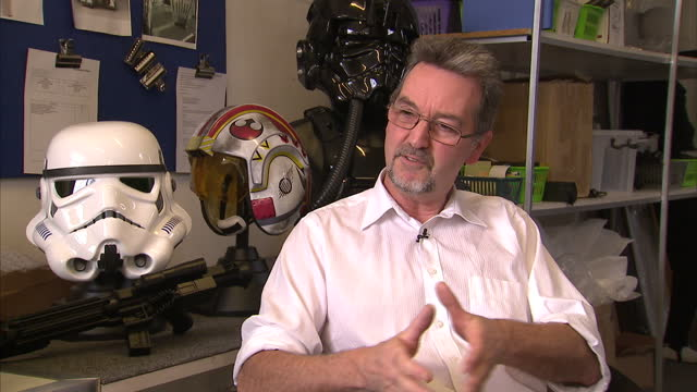 interior shots andrew ainsworth shepperton design studios talks about how many stormtrooper costumes he made for the first star wars film on october... - shepperton studios stock videos & royalty-free footage