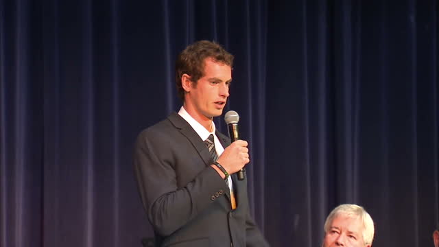 interior shots andy murray presented with freedom of the city and cries during his speech - stirling stock videos & royalty-free footage