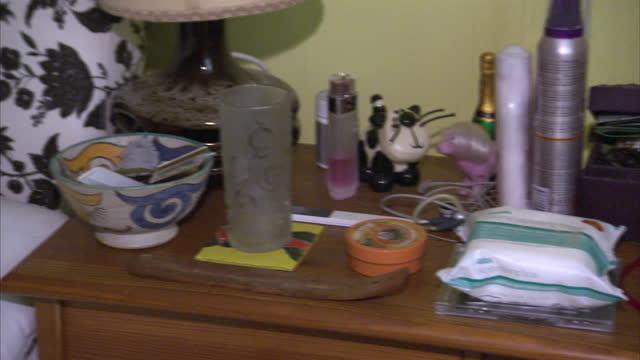 Interior shots around the bedroom belonging to murdered woman Joanna Yeates showing bottles of perfume photos on cabinet Jurors Shown Around Joanna...