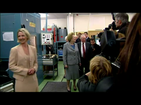 interior shots baroness margaret thatcher tours pobjoy mint - baroness stock videos & royalty-free footage