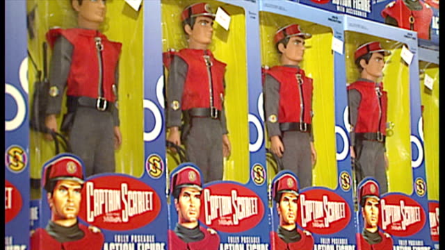 interior shots captain scarlet toys on shelves in hamleys toy shop on december 02 1993 in london england - captain scarlet stock videos and b-roll footage