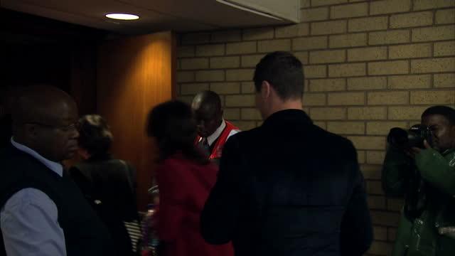 interior shots carl pistorius arrive at court on march 04 2014 in pretoria south africa - ピストリウス恋人射殺事件点の映像素材/bロール