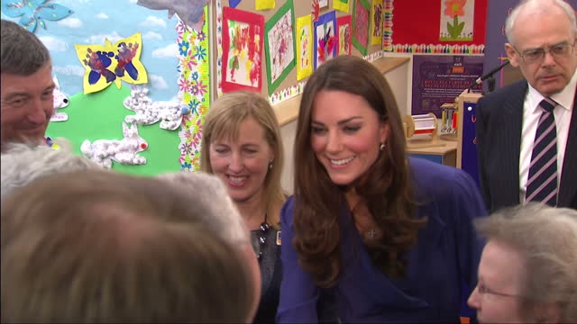 interior shots catherine, duchess of cambridge greets & chats with staff at the east anglia children's hospice duchess of cambridge visits children's... - east anglia stock videos & royalty-free footage