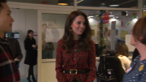 interior shots catherine, duchess of cambridge talking to volunteers & young people about counselling services on her visit to the heads together... - annual general meeting stock videos & royalty-free footage