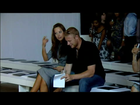 interior shots colleen mcloughlin attends george fashion show, also in attendance andrew flintoff and wife rachael flintoff. interior interview... - wife stock videos & royalty-free footage