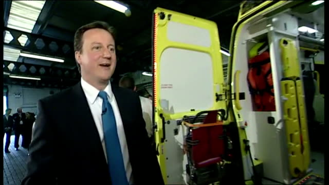interior shots david cameron mp, leader of conservative party meeting paramedics in dudley on may 05, 2010 in dudley, england. - 2010 stock videos & royalty-free footage