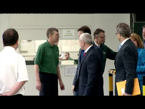 interior shots deputy prime minister tours bentley motors factory in crew with senior bentley staff meeting work force nick clegg tours bentley... - british liberal democratic party stock videos and b-roll footage