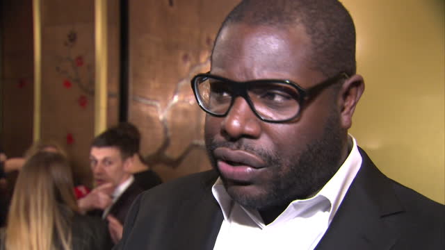 interior shots director steve mcqueen responds to questions about death of actor philip seymour hoffman on in new york city - suchtmittel abhängigkeit stock-videos und b-roll-filmmaterial