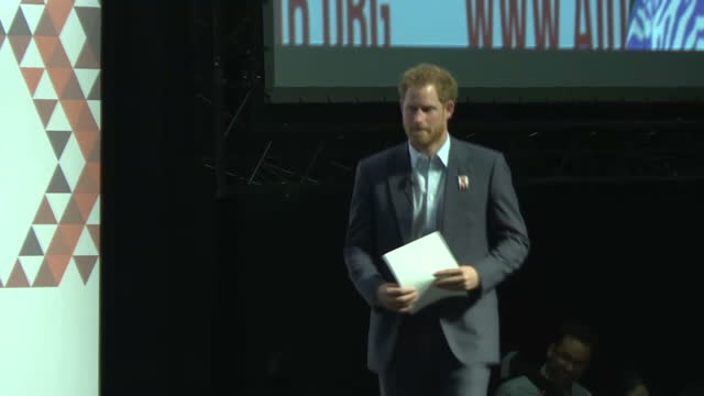 durban interior shots elton john and prince harry announced then walk on stage - durban stock videos & royalty-free footage