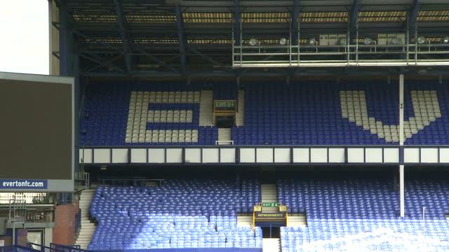 vidéos et rushes de interior shots goodison park, home venue of everton football club in liverpool, england. sht on 29th september 2015 - everton