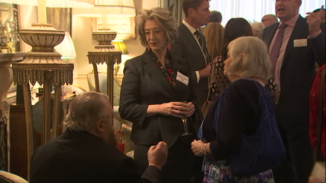 interior shots guests attend a reception to celebrate the launch of the 'our amazing people' campaign at clarence house maureen lipman actress dame... - patricia routledge stock videos & royalty-free footage