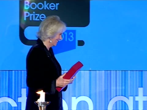 interior shots hrh camilla duchess of cornwall presents jhumpa lahiri author of the lowland an award at the man booker prize eleanor catton became... - man booker prize stock videos & royalty-free footage