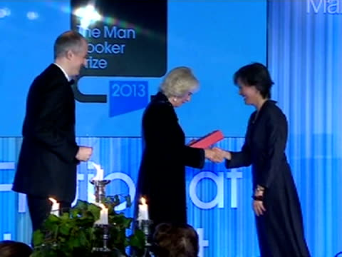 interior shots hrh camilla duchess of cornwall presents ruth ozeki author of a tale for the time being an award at the man booker prize eleanor... - man booker prize stock videos & royalty-free footage