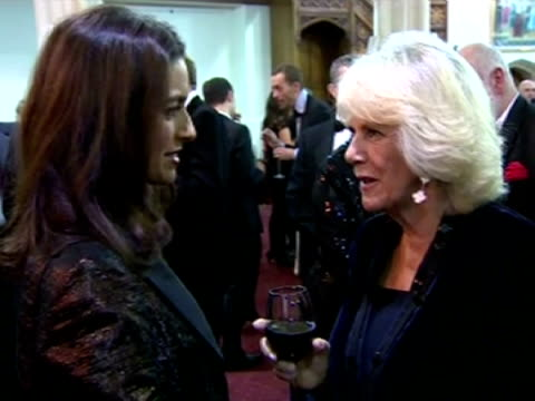interior shots hrh camilla, duchess of cornwall, talking to jhumpa lahiri, author. eleanor catton became the youngest ever winner of the man booker... - other stock videos & royalty-free footage