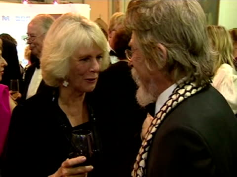 interior shots hrh camilla duchess of cornwall talking to john hurt eleanor catton became the youngest ever winner of the man booker prize for her... - man booker prize stock videos & royalty-free footage