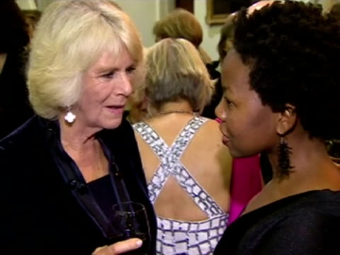 interior shots hrh camilla duchess of cornwall talking to noviolet bulawayo author eleanor catton became the youngest ever winner of the man booker... - man booker prize stock videos & royalty-free footage