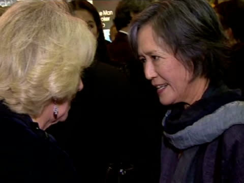 interior shots hrh camilla duchess of cornwall talking to ruth ozeki author eleanor catton became the youngest ever winner of the man booker prize... - man booker prize stock videos & royalty-free footage