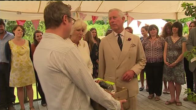 Interior shots Hugh FearnleyWhittingstall presents Prince Charles Camilla with a hamper featuring various books products from River Cottage on July...