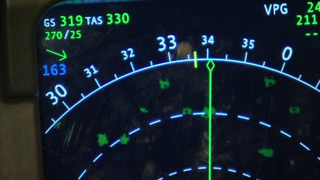 interior shots inside flight simulator interior shots various monitors instruments in pilot cockpit in flight simulator on march 18 2014 in kuala... - flugzeugabsturz stock-videos und b-roll-filmmaterial