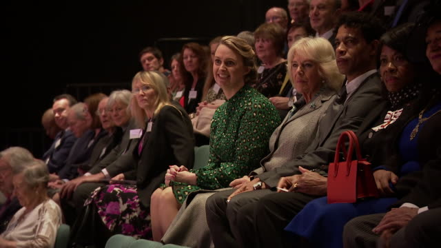 interior shots int camilla duchess of cornwall watches a dance performance alongside director of the birmingham royal ballet and elmhurst vice... - dance studio stock videos & royalty-free footage