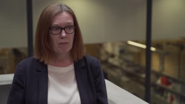 interior shots interview with professor sarah gilbert, vaccinologist at oxford university about coronavirus vaccine testing on 23 april 2020 in... - oxford england stock-videos und b-roll-filmmaterial
