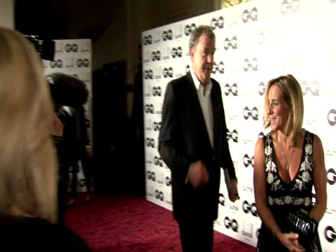 interior shots jeremy clarkson speaking to press at gq awards arrivals jeremy clarkson gq awards arrival on september 07 2011 in london england - jeremy clarkson stock videos & royalty-free footage