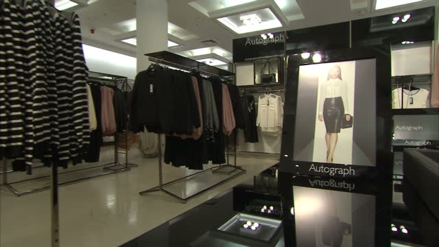 interior shots marks and spencer autograph collection. marks and spencer store interiors on july 25, 2013 in london, england - business finance and industry stock videos & royalty-free footage