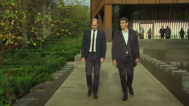 Interior shots Matt Brittin President EMEA Business and Operations at Google arrives with Prince William Duke of Cambridge during his visit to Google...