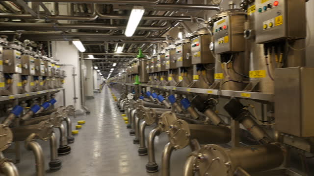 interior shots of a toothpaste factory with tanks pipework and temperature gauges on february 03 2017 in london england - toothpaste stock videos and b-roll footage