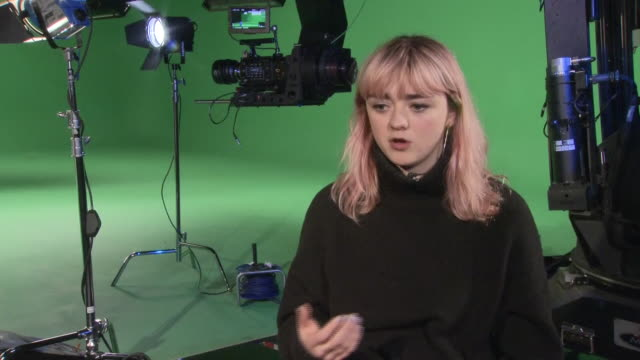 Interior shots of actor Maisie Williams giving an interview about her online platform Daisie and her social media presence on 23rd January 2019 in...