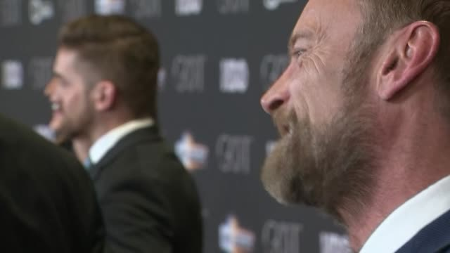 Interior shots of actor Richard Dormer speaking to the press on the red carpet at the S8 Game of Thrones premiere on 12 April 2019 in Belfast...