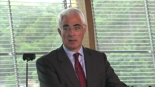 interior shots of alistair darling giving a speech at the launch of the better together campaign on june 25 2012 in edinburgh scotland - alistair darling stock videos & royalty-free footage