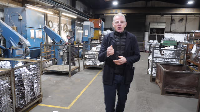 interior shots of aluminium parts being forged by engineers in the alucast smelting plant on 1 february 2021 in wednesbury, united kingdom - furnace stock videos & royalty-free footage