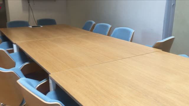 interior shots of an empty board room and meeting room with empty chairs on 31st may 2018 in london, united kingdom. - board room stock videos & royalty-free footage
