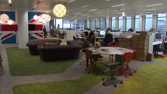interior shots of an office at google's london headquarters google london office interiors on november 18 2013 in london england - office stock videos & royalty-free footage