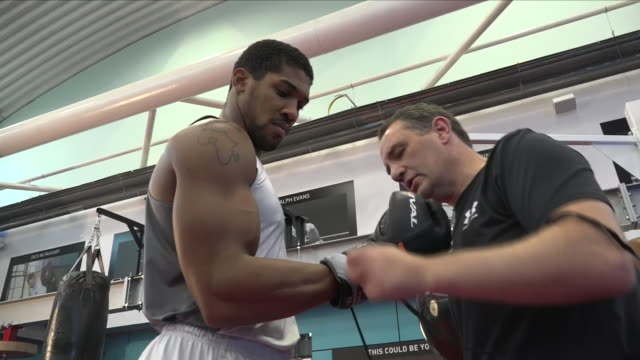 interior shots of anthony joshua boxer as he is about to begin his training session on 1st setember 2018 at english institute of sport sheffield in... - untied stock videos and b-roll footage