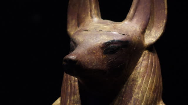 interior shots of artefacts from the tomb of king tutankhamun on 2 november 2019 in london united kingdom - archaeology stock videos & royalty-free footage