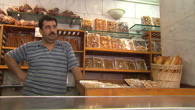 interior shots of bakers at work baking baguettes in a french bakery in damascus syria french bakery in damascus on september 12 2013 in damascus... - french bakery stock videos & royalty-free footage