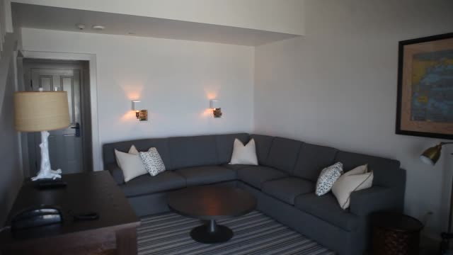 Interior shots of Barons Cove Hotel and Restaurant in Sag Harbor NY Monday May 11 2015 Shots Interior shots pan across the living room of a hotel...